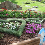 Heart flower beds on Heart Island