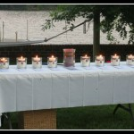 Pregnancy and Infant Loss Support group lights remembrance candles in an annual remembrance ceremony