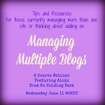 Managing Multiple blogs
