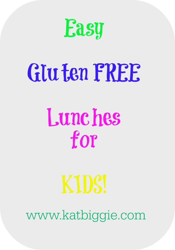 gluten free lunches for kids