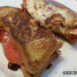 Gluten free grilled pimento cheese and tomato sandwich
