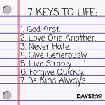 7 Keys to Life by Daystar {Wordless Wednesday}