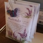 Lavender packets and butterflies